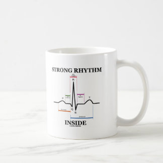 Strong Rhythm Inside (ECG/EKG Heartbeat) Basic White Mug