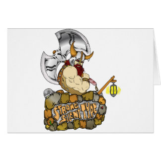 Strong Silent Type Greeting Card