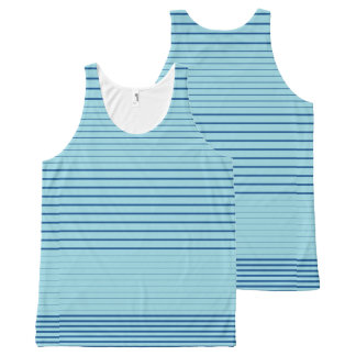 Strong Stripes (lapis-island blue) All-Over Print Tank Top