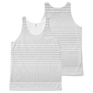 Strong Stripes (light grey) All-Over Print Tank Top