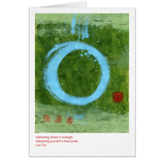 Strong Tao Greeting Card