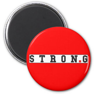 strong text message emotion feel red dot square magnet
