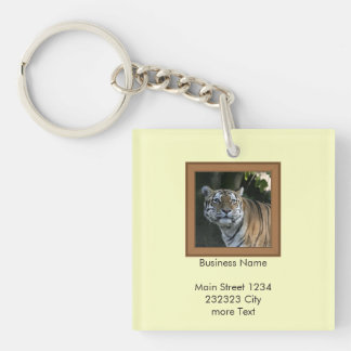 Strong TIGER 2 Single-Sided Square Acrylic Key Ring
