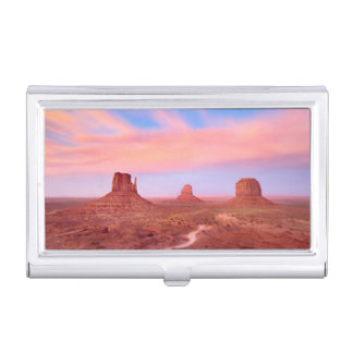 Strong Winds over Desert Valley Business Card Holder