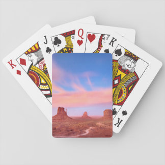Strong Winds over Desert Valley Playing Cards