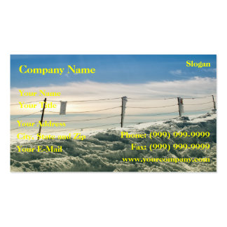 Strong winter business card templates