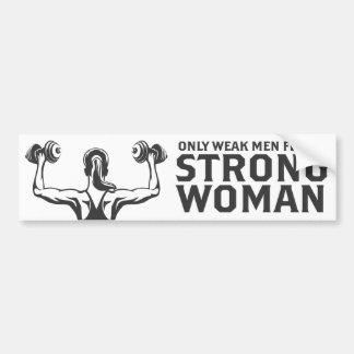 Strong Woman Bumper Sticker
