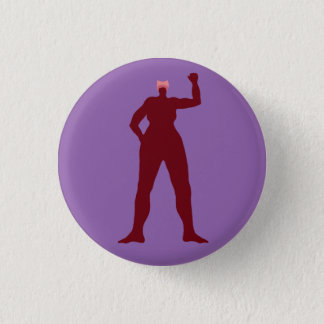 Strong Woman in a Pink Hat 3 Cm Round Badge