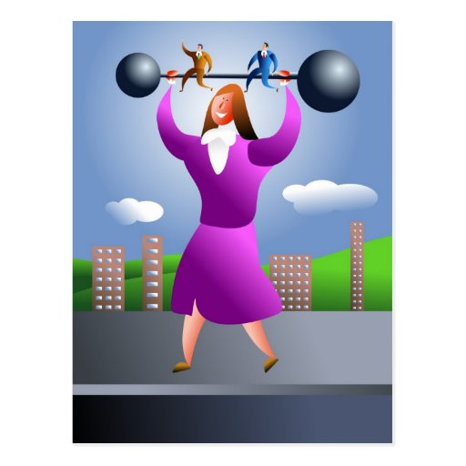 Strong Woman Postcards