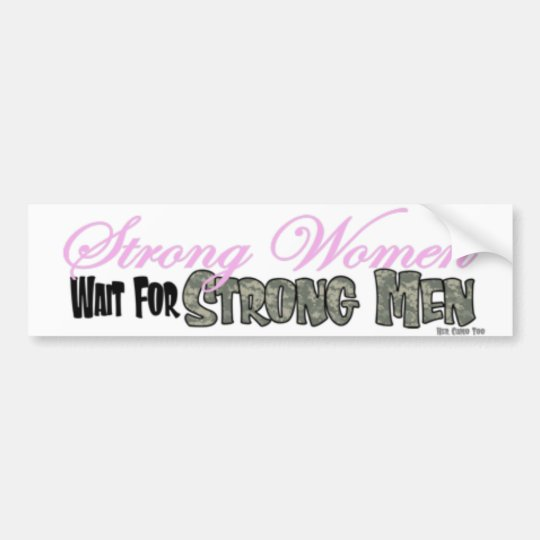 Strong women Bumper sticker