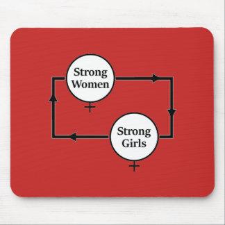 Strong Women Girls Flow Chart Mousepad