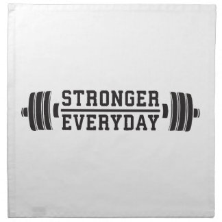 Stronger Everyday - Workout Inspirational Napkin