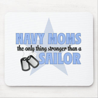 Stronger Navy Mom Mousepads