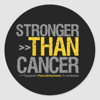 Stronger Than Cancer - Neuroblastoma Round Sticker