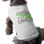Stronger Than Cancer - Non-Hodgkin's Lymphoma Pet Shirt