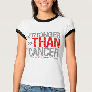 Stronger Than Cancer - Oral Cancer Tshirts