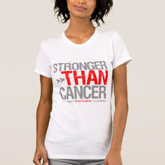 Stronger Than Cancer - Oral Cancer T-shirts