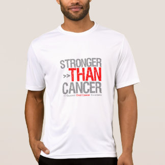 Stronger Than Cancer - Oral Cancer T Shirts