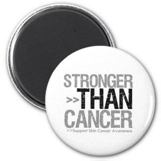 Stronger Than Cancer - Skin Cancer 6 Cm Round Magnet