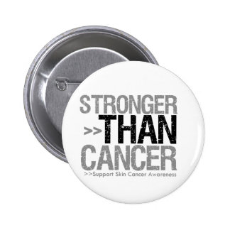 Stronger Than Cancer - Skin Cancer 6 Cm Round Badge