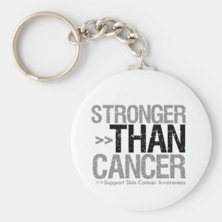 Stronger Than Cancer - Skin Cancer Basic Round Button Key Ring