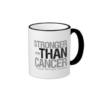 Stronger Than Cancer - Skin Cancer Ringer Mug