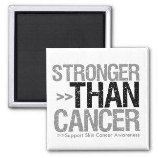 Stronger Than Cancer - Skin Cancer Square Magnet
