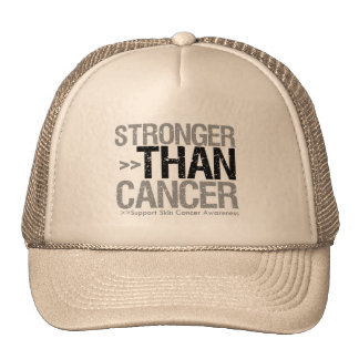 Stronger Than Cancer - Skin Cancer Trucker Hats