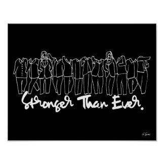 Stronger Than Ever Black Art Print