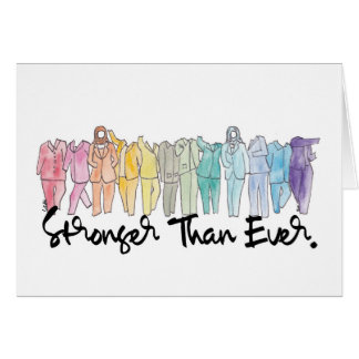 Stronger Than Ever Blank Greeting Card