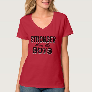 Stronger than the boys - barbells for babes T-Shirt
