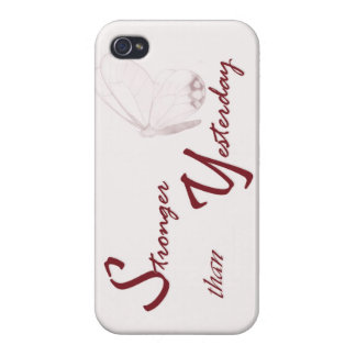 Stronger than Yesterday Motivational IPone Case iPhone 4/4S Cover