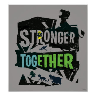 Stronger Together Lion Guard Graphic Poster