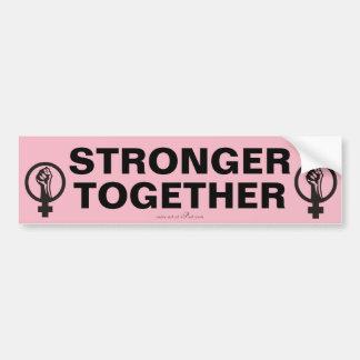 STRONGER TOGETHER, Women's March slogan Bumper Sticker