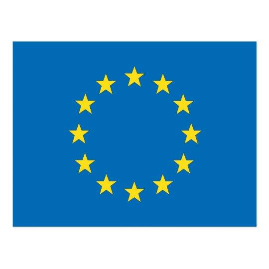 StrongerIn (Remain) European Union EU flag Postcard
