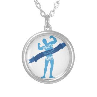 Strongest Man Round Pendant Necklace