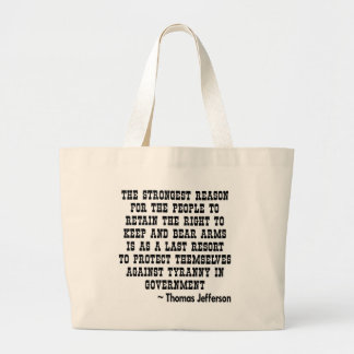 Strongest Reason To Keep & Bear Arms TYRANNY Canvas Bag