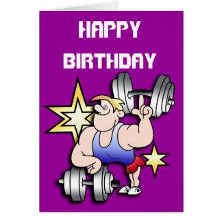 Strongman Birthday Card