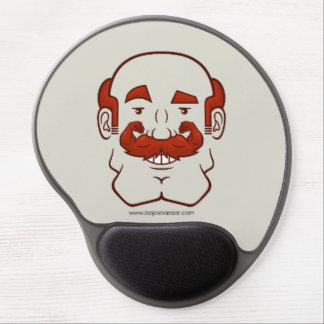 Strongstache (Balding, Red Hair) Gel Mouse Mats