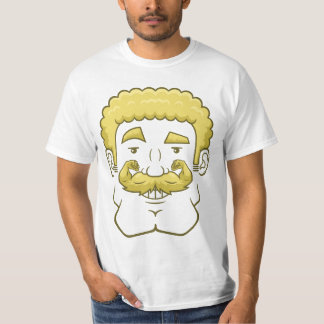 Strongstache (Curly Blond Hair) T-Shirt