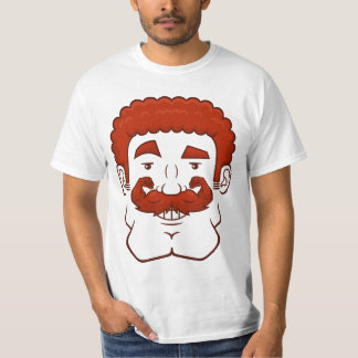 Strongstache (Curly Red Hair) T-Shirt
