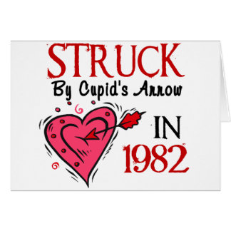 Struck By Cupid's Arrow In 1982 Greeting Card