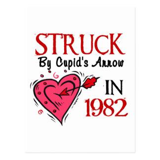 Struck By Cupid's Arrow In 1982 Postcard