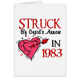 Struck By Cupid's Arrow In 1983 Greeting Card