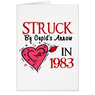 Struck By Cupid's Arrow In 1983 Card
