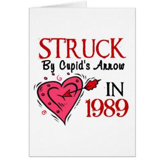 Struck By Cupid's Arrow In 1989 Card