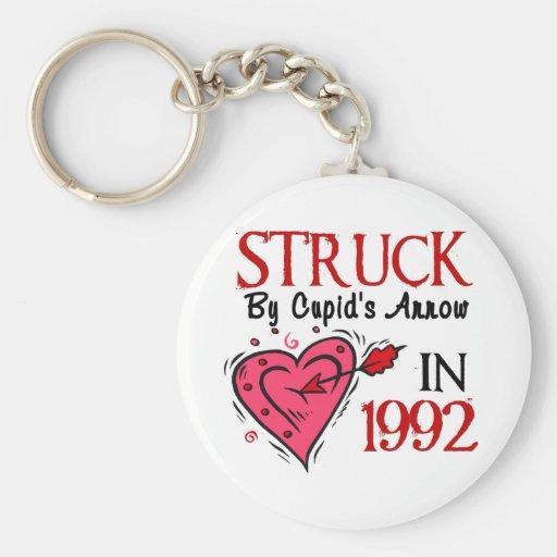 Struck By Cupid's Arrow In 1992 Key Chain