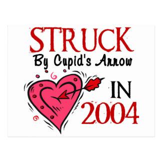 Struck By Cupid's Arrow In 2004 Postcard