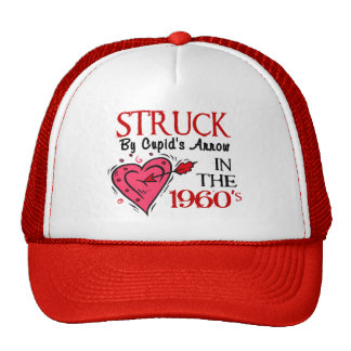 Struck With Cupid's Arrow In The 1960's Mesh Hat