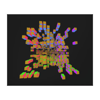 structural abstraction gallery wrapped canvas